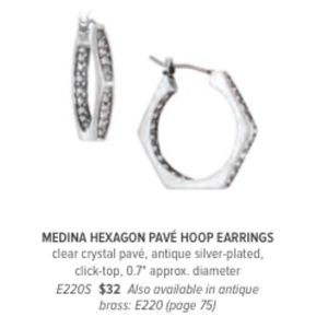 Jewelry - Medina Hexagon Pave Earrings